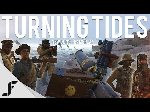 TURNING TIDES DLC - Gameplay + New Guns (2 new maps) - Battlefield 1
