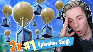 Nur LOOTDROP ITEMS Challenge in FORTNITE! Doppelter WIN!