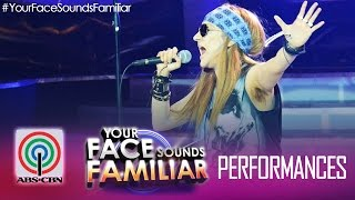 "Your Face Sounds Familiar: Jolina Magdangal as Axl Rose - ""Sweet Child of Mine"""