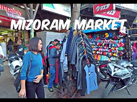 Colourful Mizoram Market HD | Aizawl Strreet Shopping