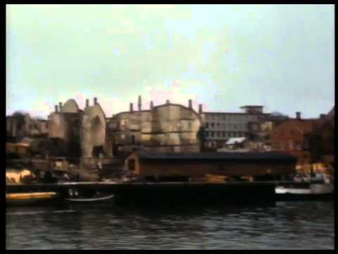 Fargefilm etter by bombinga Kristiansund 1940