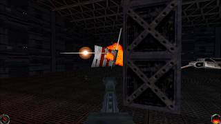 Star Wars Jedi Knight: Mysteries of the Sith - (Level 10) Orbiting Ship Yards