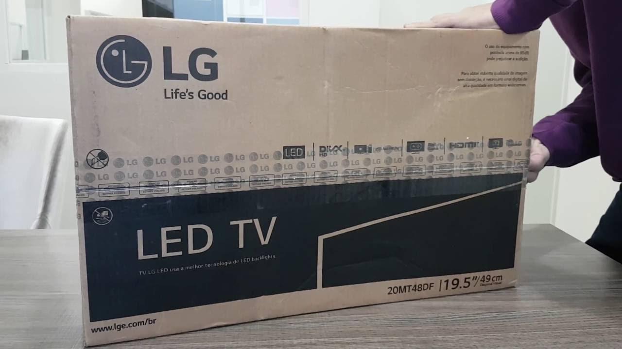 Unboxing Monitor TV LED LG 20MT48DF 19.5pol - YouTube 6c9bbd597f