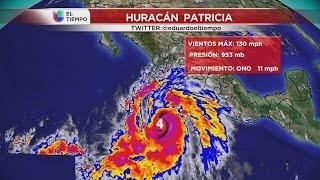 El huracán Patricia llegará en la tarde del viernes a las costas mexicanas