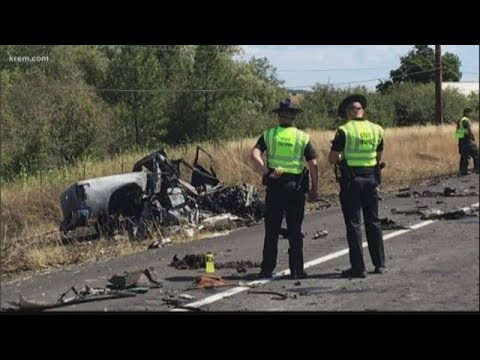 Highway 95 fatal crash sparks fire in nearby field