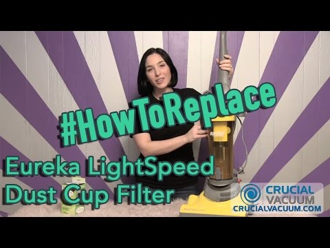 Eureka LightSpeed Dust Cup Filter Replacement DCF-4 & DCF-18, Part # 62132