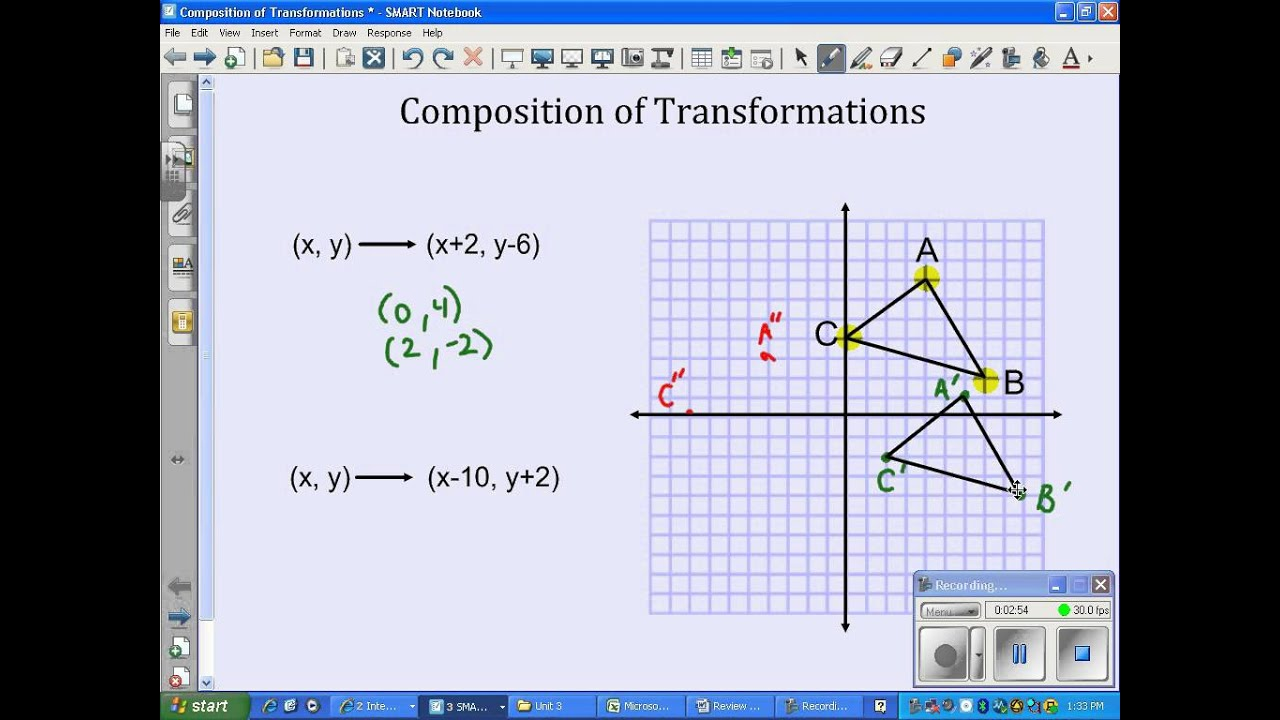 worksheet Composite Transformations Worksheet composition of transformations video youtube video