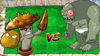 Plants vs. Zombies Hack - Wall-nut  Scaredy Shroom vs Dr. Zomboss
