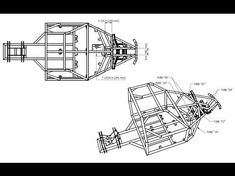 BadLandBuggy ST4 Plans/Drawings - PT 2. Drawing MidFrame ...