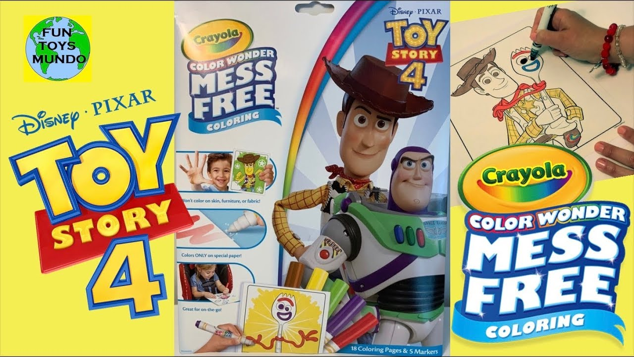 Toy Story 4 Crayola Mess Free Coloring Pages with Markers ...