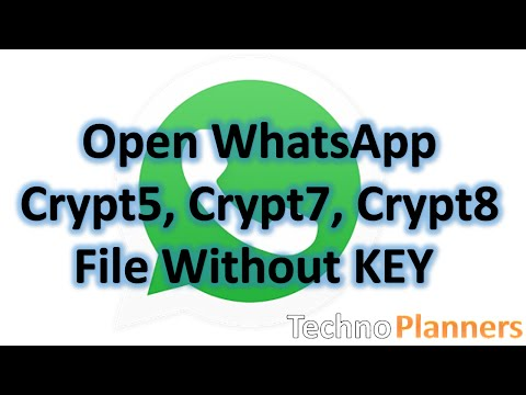 WhatsApp Log Reader, Read WhatsApp Crypt5, Crypt7, Crypt8, Crypt12 File Without Key On PC