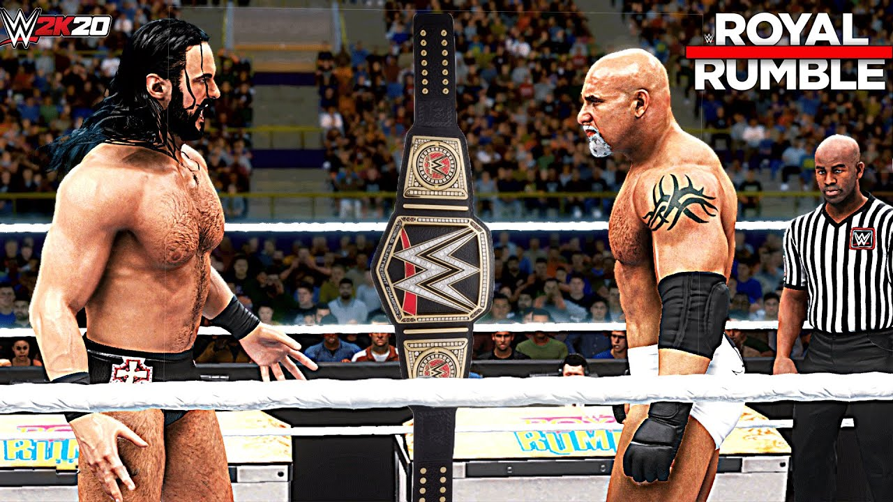 Royal Rumble 2021 Drew McIntyre  VS Goldberg! WWE 2K20 (WWE Championship)