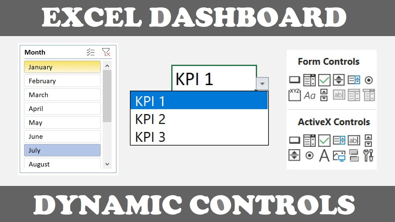 Best Dynamic Controls For Excel Dashboards