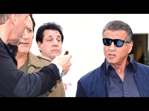 Sylvester Stallone, Ralf Moller and Chuck Zito At Cafe Roma  Pt 2