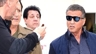 Sylvester Stallone, Ralf Moller and Chuck Zito At Cafe Roma  Pt 2