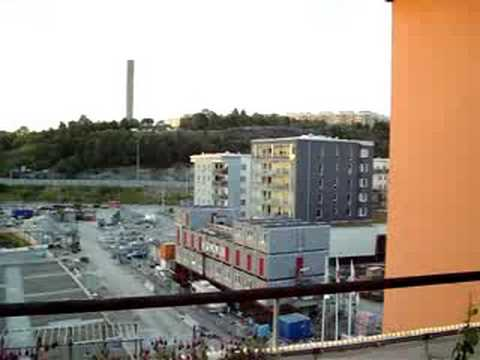 The view from Uncle R's penthouse in Stockholm
