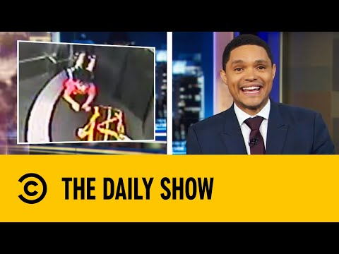 Toddler Rides On An Airport Baggage Conveyer Belt | The Daily Show with Trevor Noah