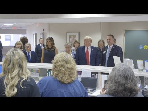 President Trump and First Lady Melania Trump Visits Dayton, Ohio