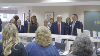 The White House President Trump and First Lady Melania Trump Visits Dayton, Ohio