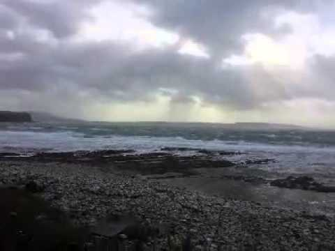 Storm force winds rathlin 9th march 2015