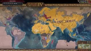 EUIV Golden Horde World Conquest Timelapse 1444 - 1695