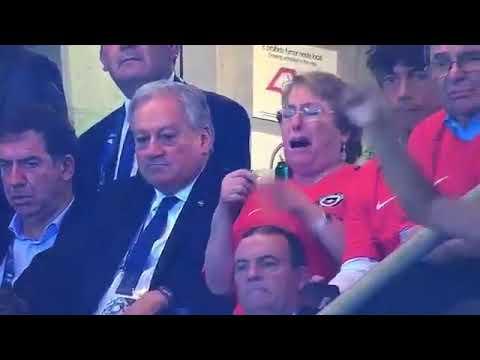 Michelle Bachelet llora por la goleada de Brasil a Chile #ChauChile