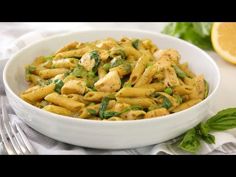 one-pot-pesto-chicken-penne-|-quick-easy-pantry-recipe-|-cook-with-me