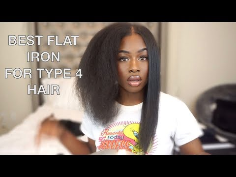 I FOUND THE BEST FLAT IRON FOR TYPE 4 HAIR!! SILK PRESS ON MY NATURAL HAIR