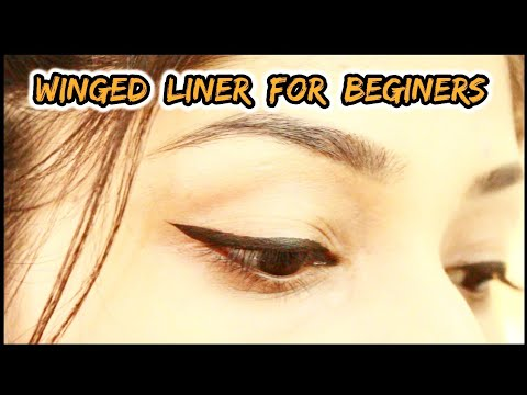 HOW TO MAKE A PERFECT WINGED EYELINER  For Hooded eyes  Manasi Mau