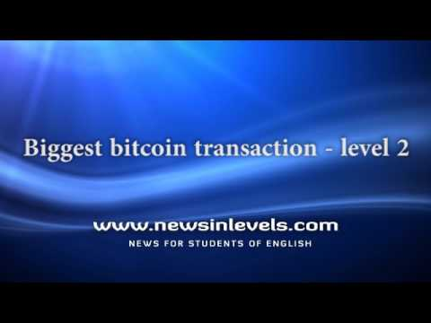 Biggest Bitcoin Transaction - Level 2