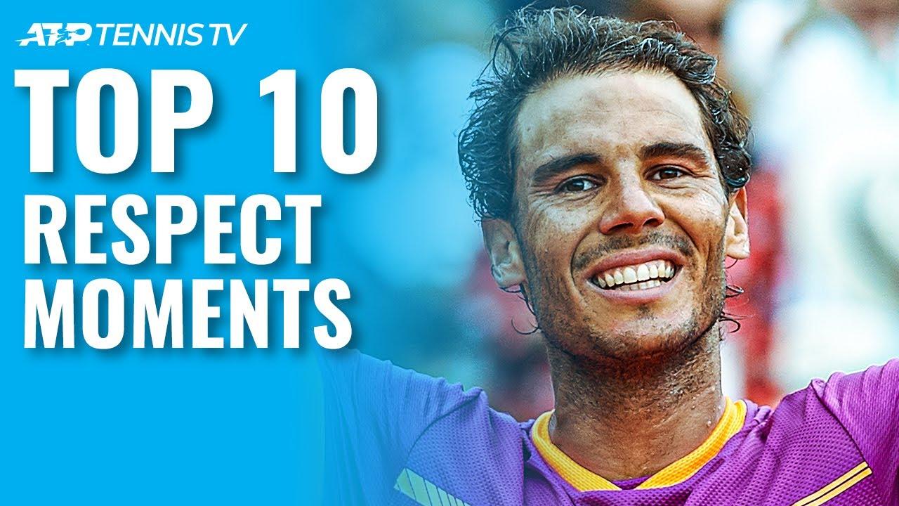 Top 10 ATP Tennis Respect Moments 🤝
