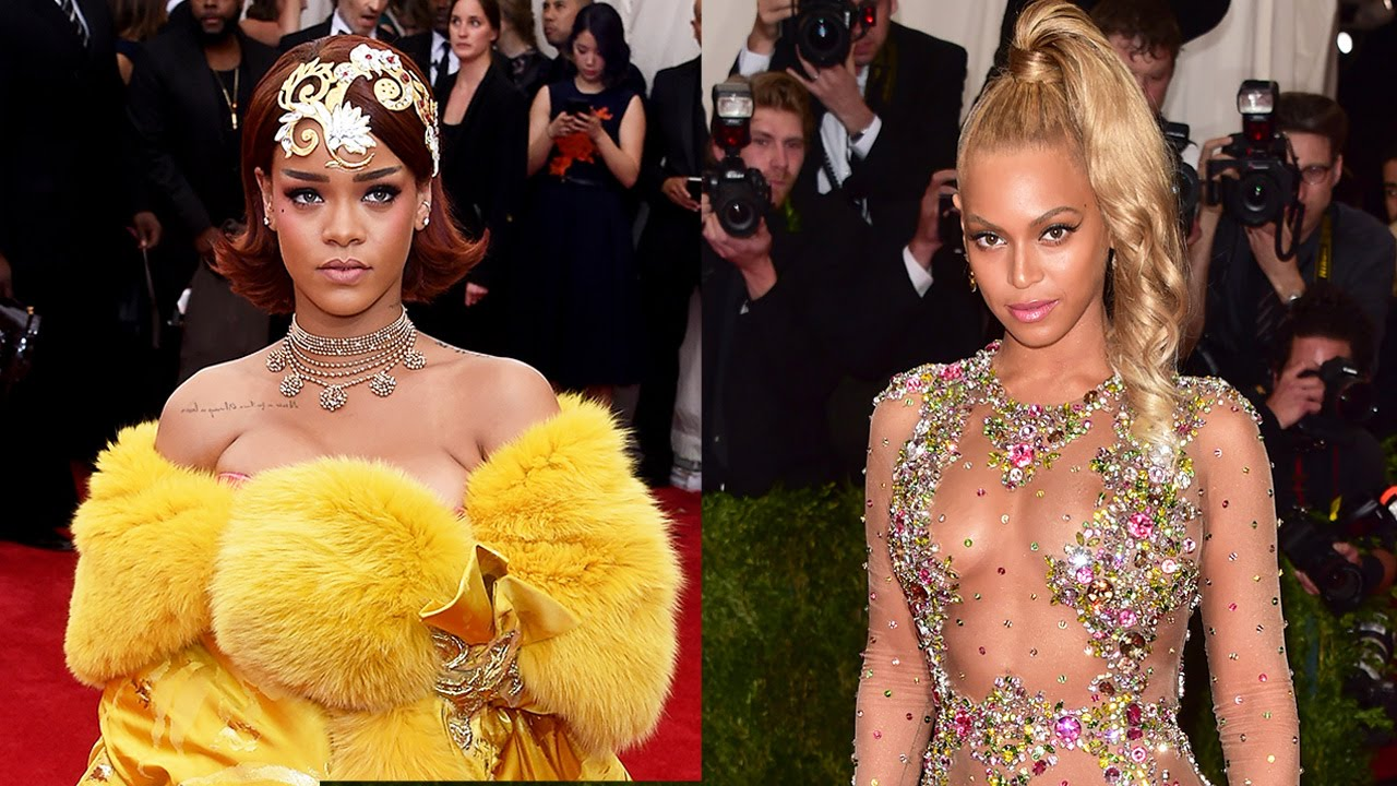 Rihanna Vs Beyonce Gowns At Met Gala 2015 Youtube