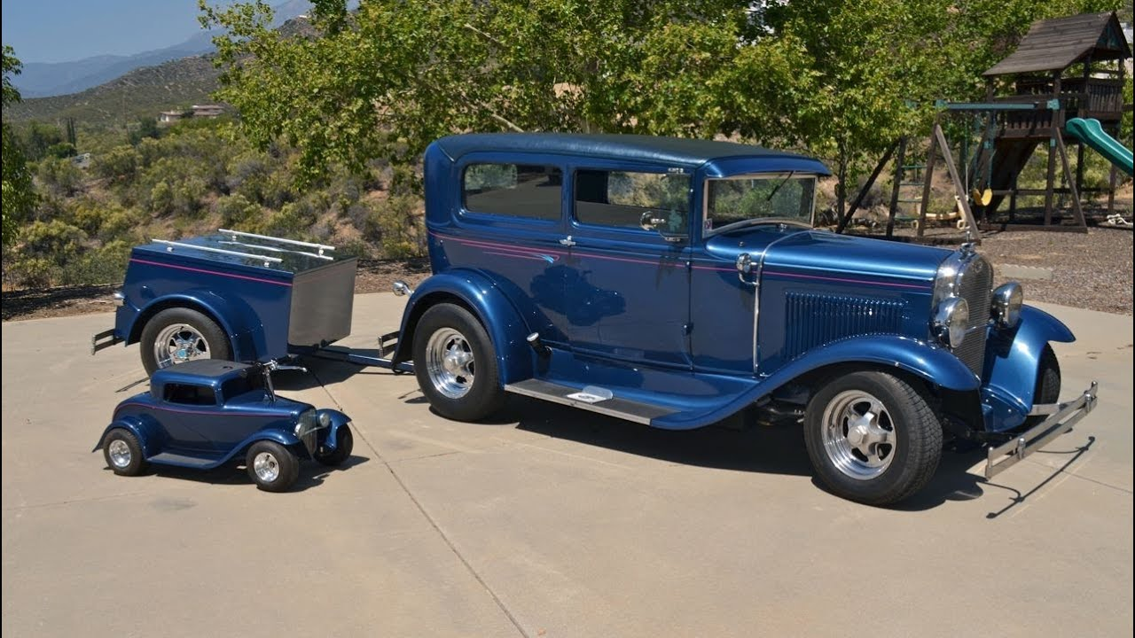 SOLD: 1931 Ford Model A 2 Door Rod, Trailer & Mini Rod For Sale CA ...
