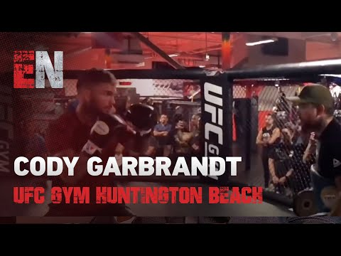 Sick Skills - Cody Garbrandt With Great Boxing And Kicks Opening Of UFC Gym Huntington Beach