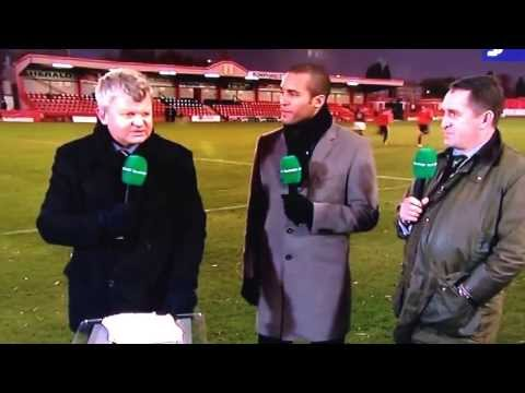 Adrian Chiles getting abused by Tamworth fans