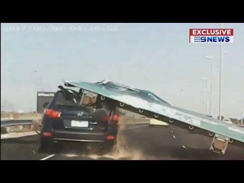 Brother Wease - Massive Freeway Sign Falls on a Car