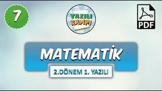 7 S N F Matematik 2 Donem 1 Yaz L Ya Haz Rl K
