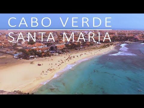 Cabo Verde, Sal, Santa Maria beach by drone