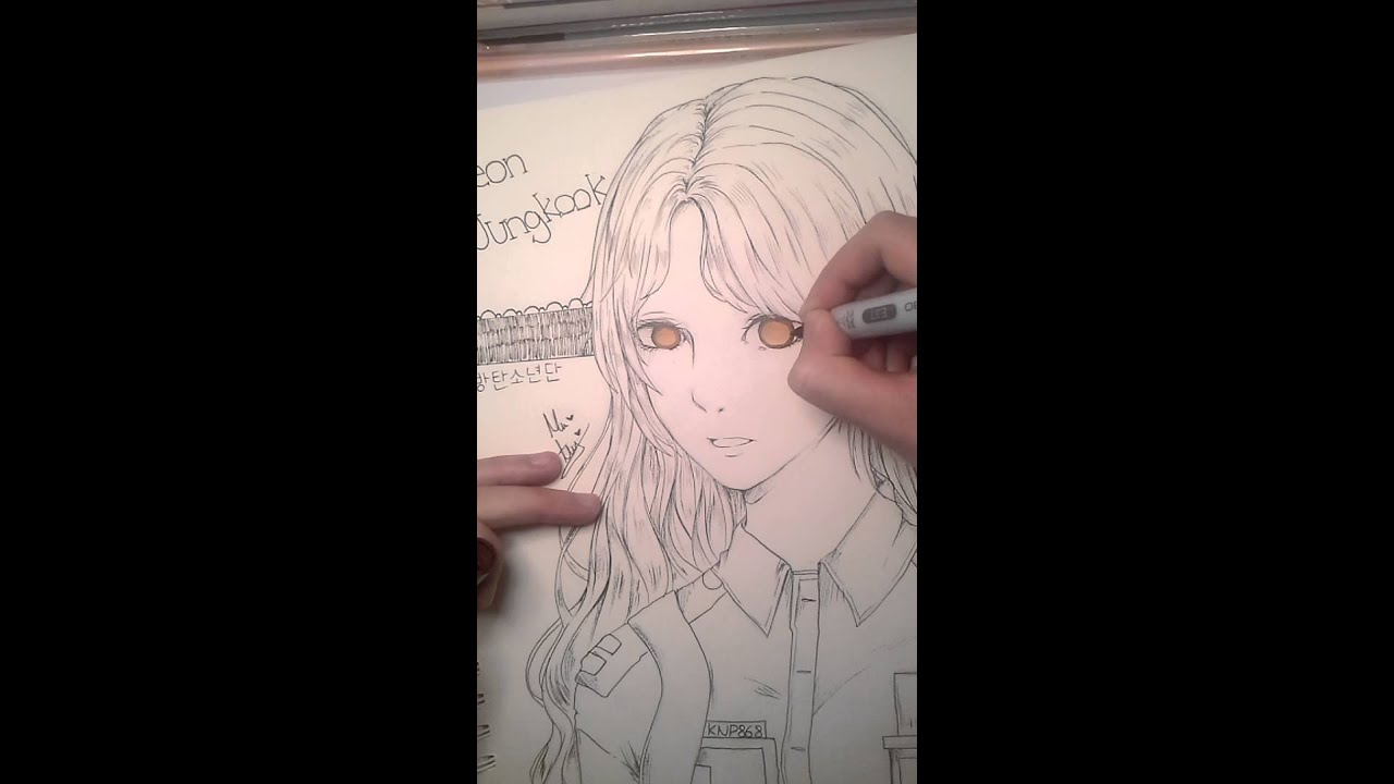 Bts Jungkook Love Anime Girl Fanart