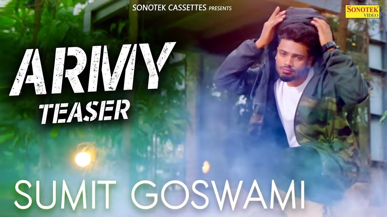 SUMIT GOSWAMI - ARMY TEASER (GANGWAR 2) SHANKY GOSWAMI   New Haryanvi Songs  Haryanavi 2019  SONOTEK