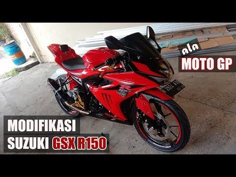 Review MODIFIKASI Suzuki GSX R150 Menjadi MOGE Ala MOTO GP