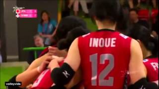 Inoue & Imamura at 2014 Montreux Volley Masters [highlights-long ve...