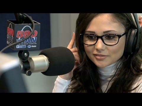 """Adult film star Ariana Marie in studio for """"The Morning After"""""""