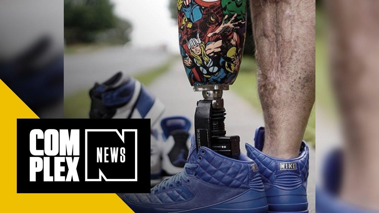 Meet the One-Legged Sneakerhead Who s Healing Through Social Media. Complex  News a0d037db6