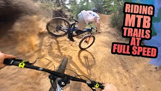 RIDING MOUNTAIN BIKE TRAILS AT FULL SPEED!