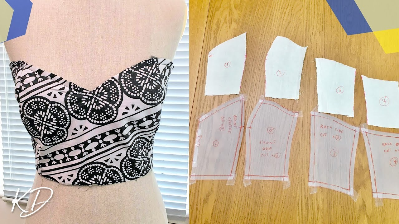 HOW TO MAKE A STRAPLESS BODICE [PATTERN TESTING INC] KIM ...