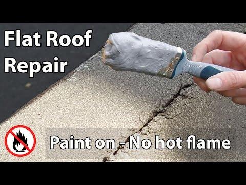 Flat Roof Leak Repair - Paint on Liquid Waterproof Sealant