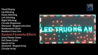 Tổng hợp hiệu ứng nền của phần mềm LEDShowTW - Mạch BX