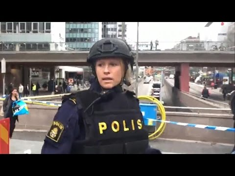 First images from scene of deadly truck crash in Sweden