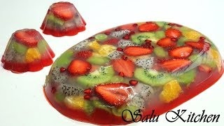 Glass Fruit Pudding || Easy version || Valentines day special || Glass Pudding || Ep#523